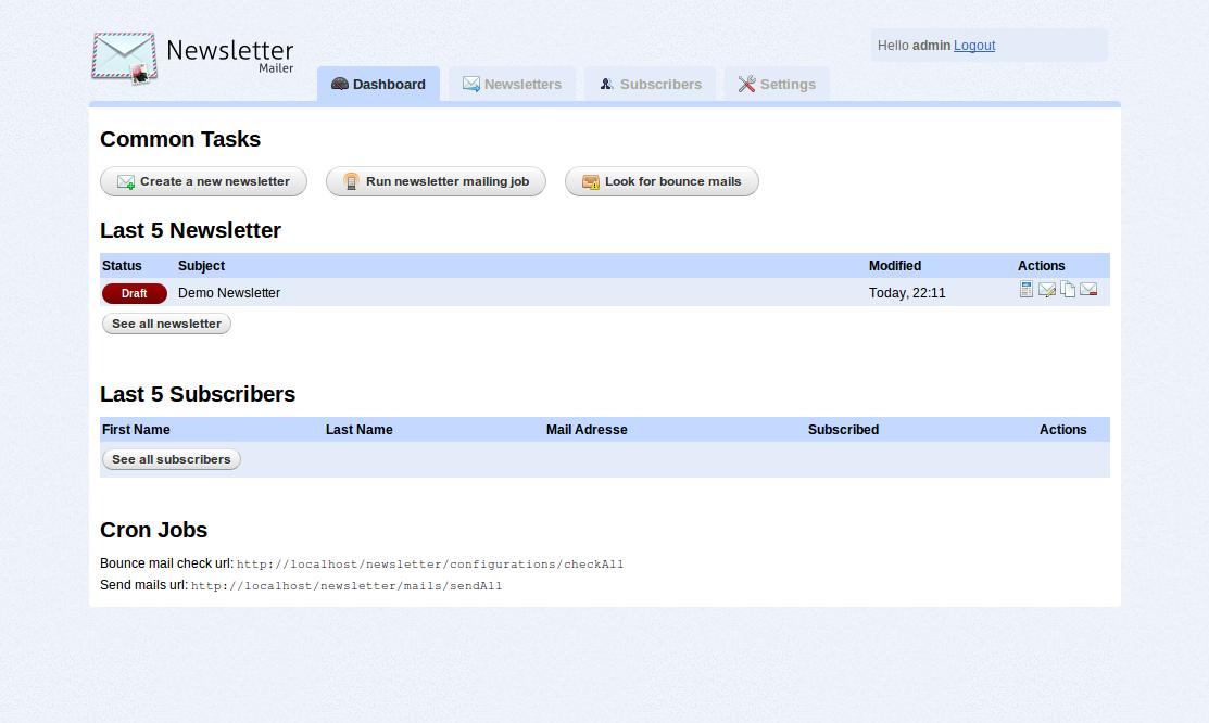 Newsletter Mailer v1.3