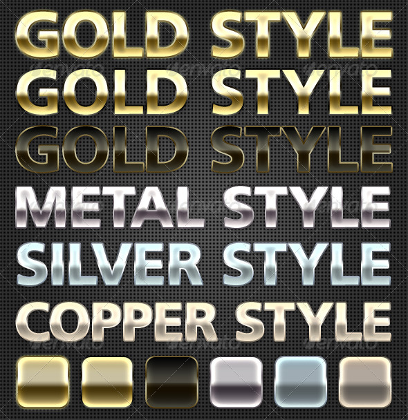 GraphicRiver Metal Styles 149366