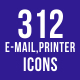 312 Email & Printer - Technology Icons