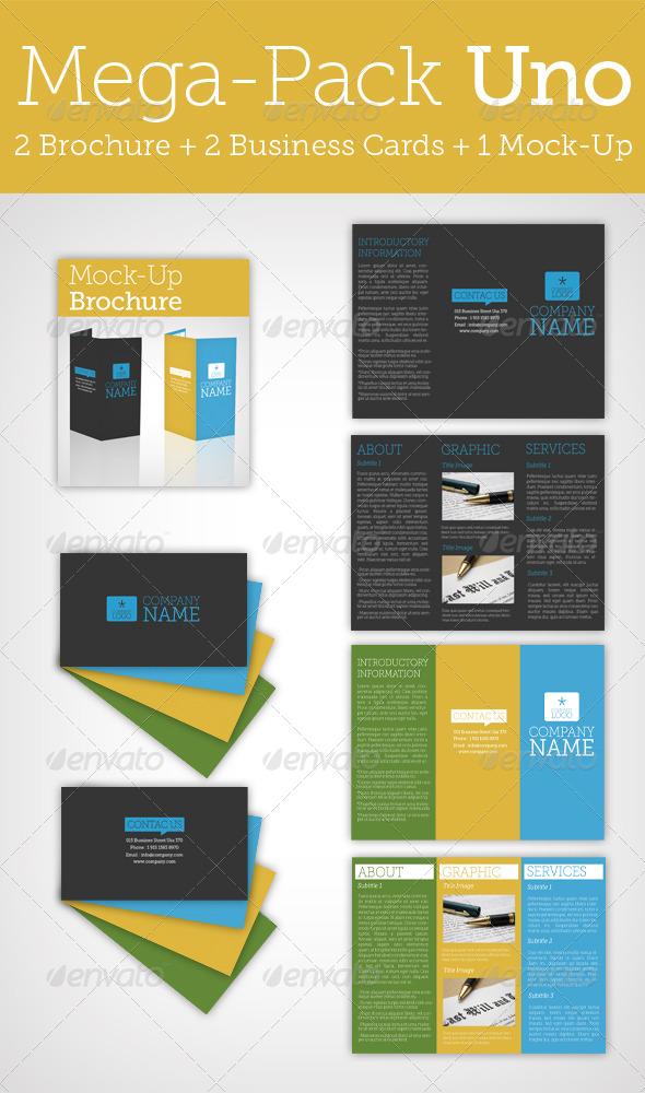 GraphicRiver Mega Pack Uno Brochure & Business Card & Mock Up 149382