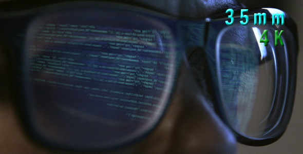 VideoHive Computer Code Reflected In Glasses 01 12274798