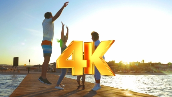 VideoHive Family Having Fun During The Morning Exercises 12276802