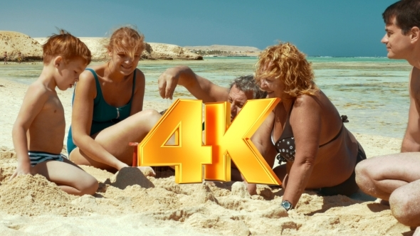 VideoHive Family Spending Time On The Beach 12276925