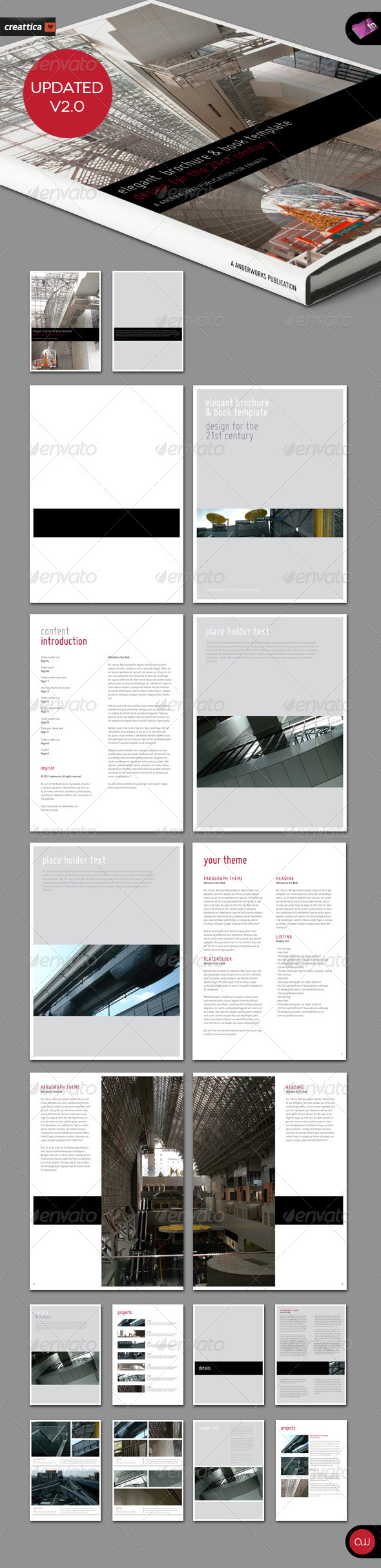 GraphicRiver Elegant Brochure & Book Template 18 Pages 222167