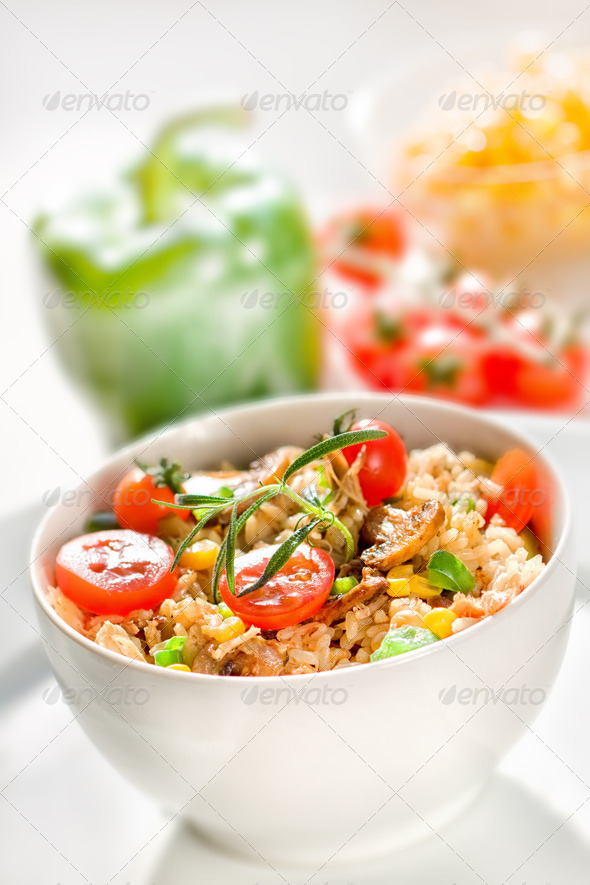 Chicken risotto - Stock Photo - Images