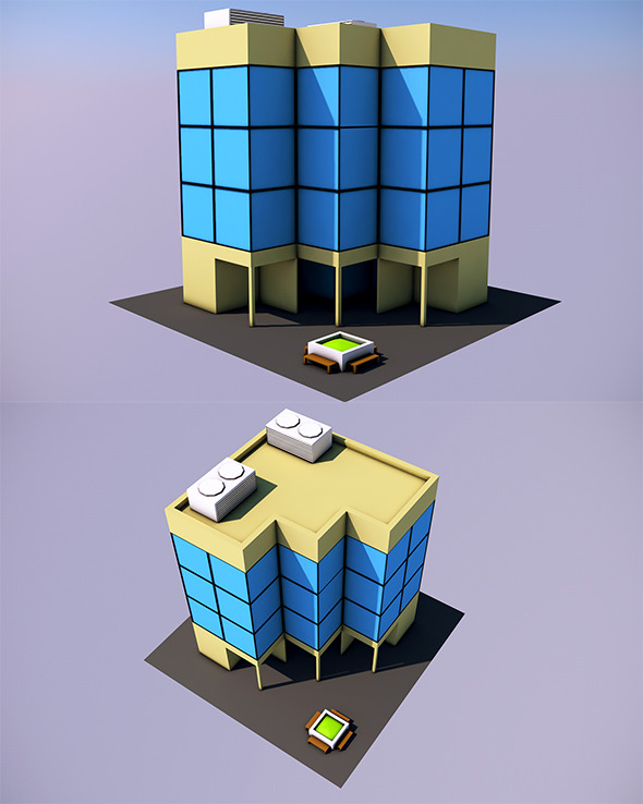 Low Poly Office (Ready to Render)  - 3DOcean Item for Sale