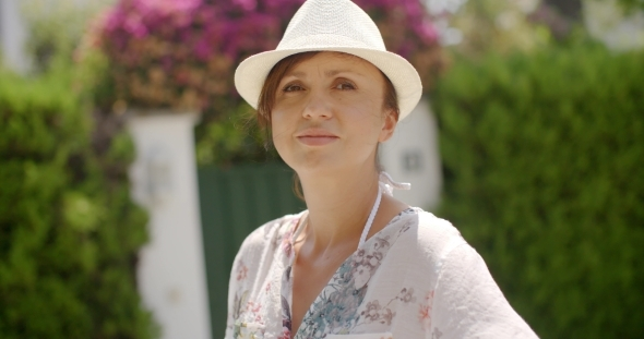 VideoHive Woman In Summer Fashion Looking At The Camera 12279751