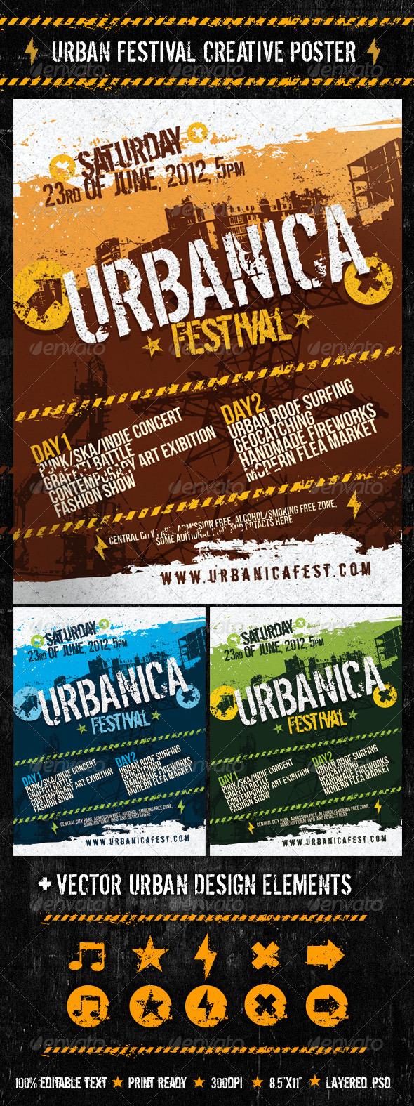 GraphicRiver Urban Festival Creative Poster 1229148