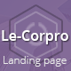 LeCorpo ||  HTML 5, Bootstrap Landing Page