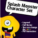 Splash Monster Character - GraphicRiver Item for Sale
