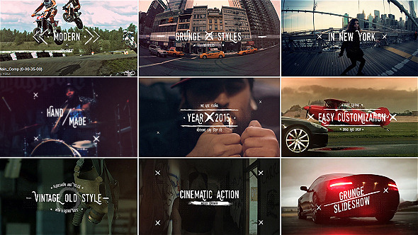 VideoHive Grunge Vintage Slideshow Titles 12188479