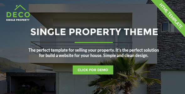 Deco House - Single Property Real Estate HTML Template