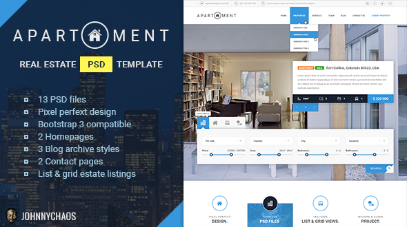 Apartment - Premium Real Estate PSD Template