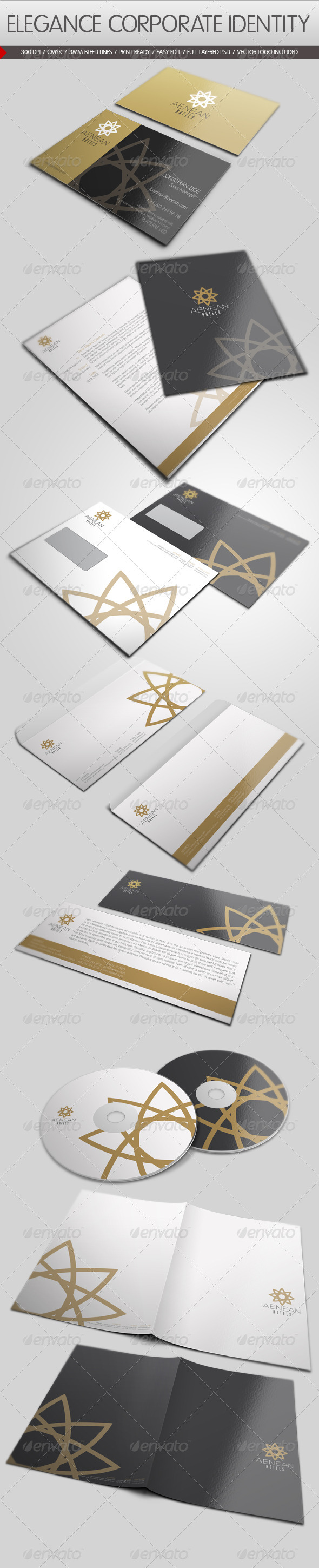 GraphicRiver Elegance Corporate Identity 1230556