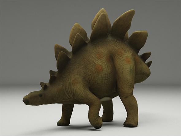 3DOcean Schleich Toy Stegosaurus 12293496