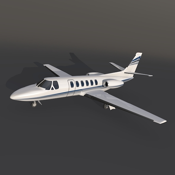 3DOcean Cessna 550 citation II private jet 12293572