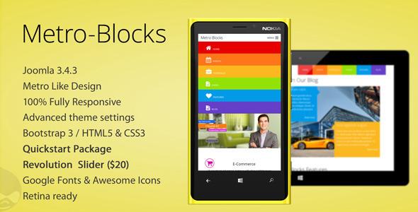 Metro-Blocks - Multipurpose Joomla template