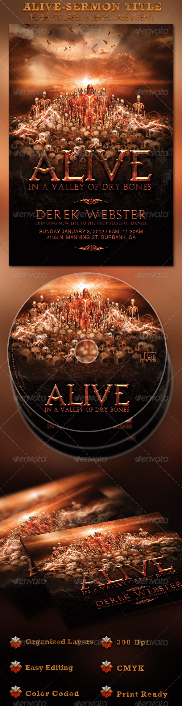 GraphicRiver Alive in a Valley of Dry Bones Flyer and CD 1230711