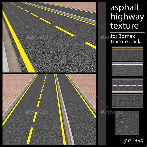 3DOcean asphalt highway texture 12293713