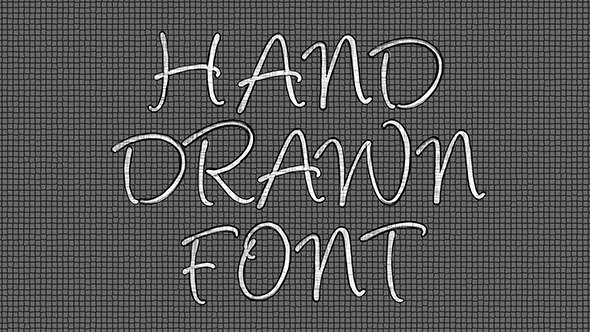 VideoHive Hand Drawn Font Pack 1 12294032