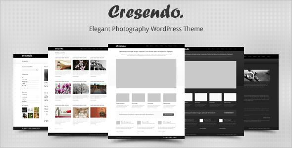 Cresendo - Elegant Photography WordPress Theme