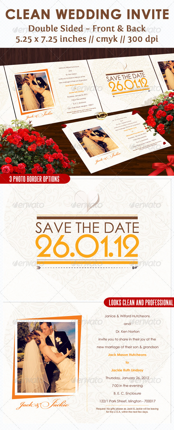 GraphicRiver Clean Wedding Invite 1231019