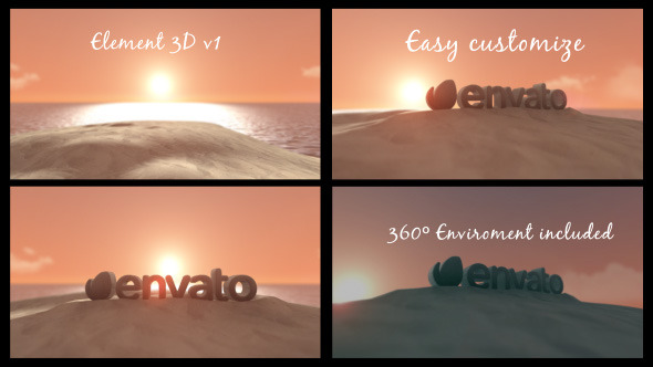 VideoHive The Beach 3D Logo 12170874