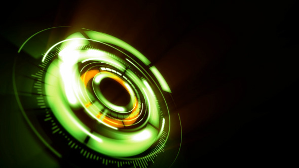 VideoHive Rotating Green Lens 12296257