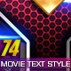 74 Movie Text Style Bundle