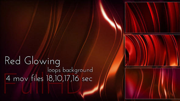 VideoHive Red Glowing Metal Animation 12296599