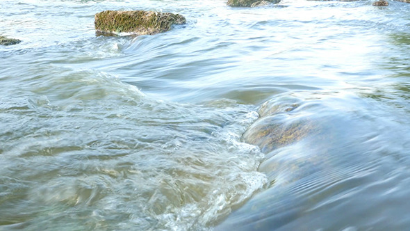 VideoHive Fast Flowing River With Stones In The Water 12298830