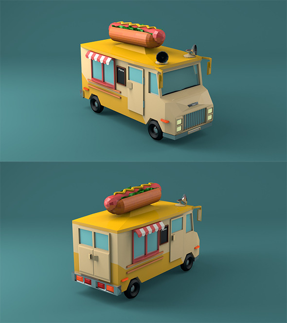 3DOcean Hot Dog Car 12310728