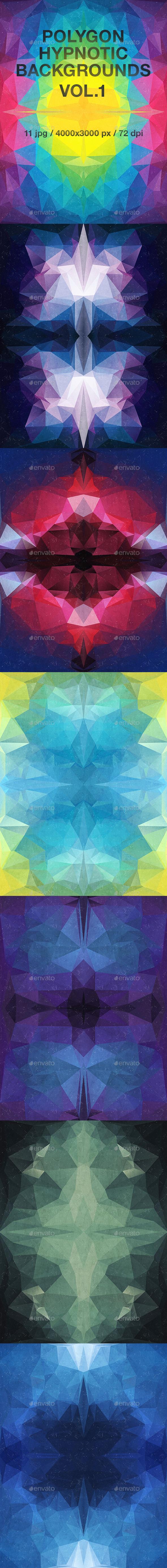 Polygon Hypnotic Backgrounds Vol.1