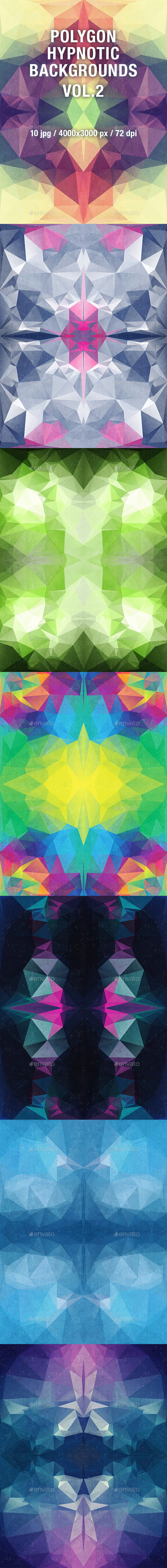Polygon Hypnotic Backgrounds Vol.2