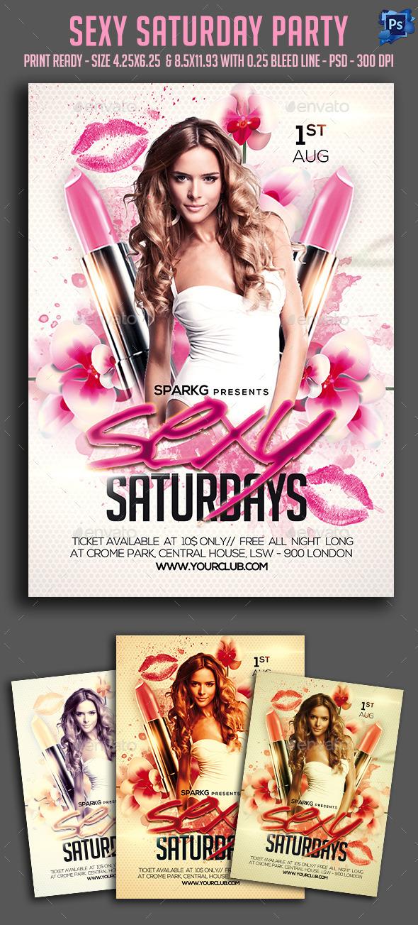 Sexy Saturday Party Flyer
