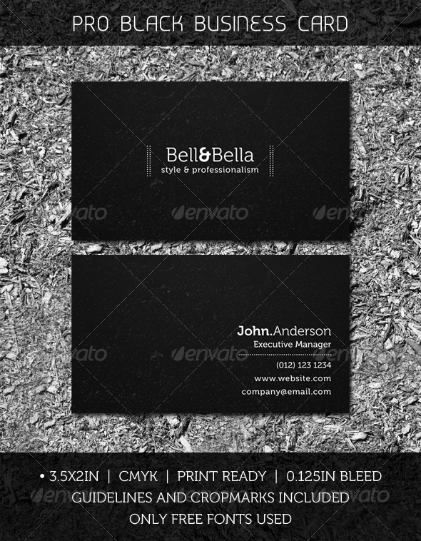 Pro Black Business Card - Creative Business Cards