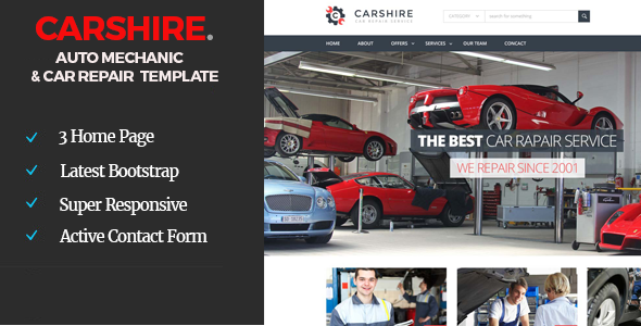 Car Shire || Auto Mechanic & Car Repair  Template