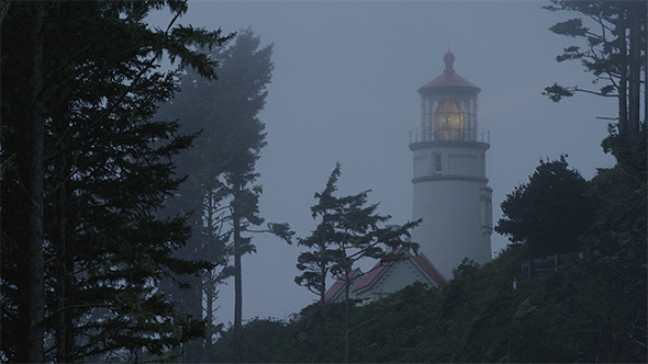 VideoHive Lighthouse in Fog Mid 12165228