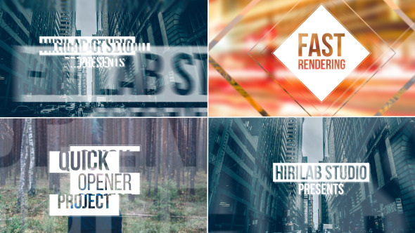 VideoHive Quick Glitchy Opener 12316369