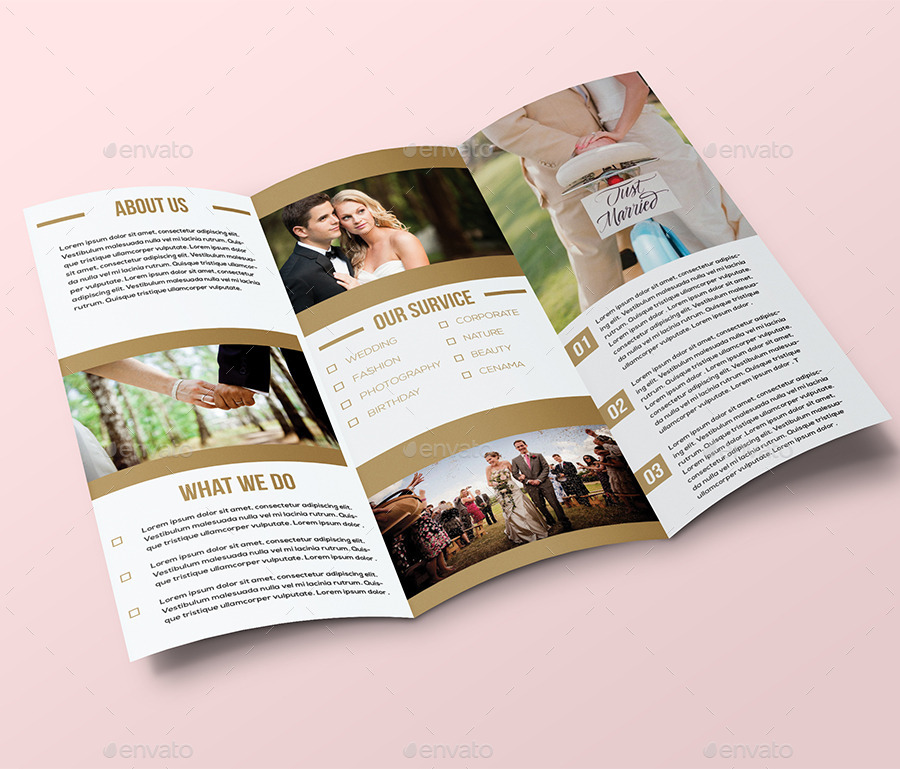 Wedding trifold brochure by bigbbang graphicriver for Planned giving brochures templates