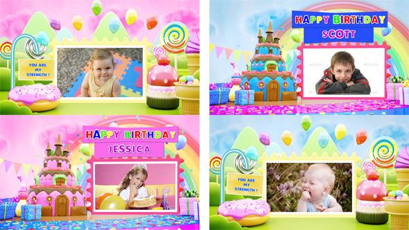 VideoHive Birthday Card Pop Up Album 12208267