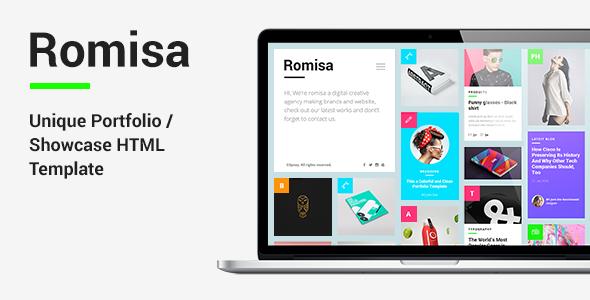 Romisa - Portfolio / Showcase HTML Template