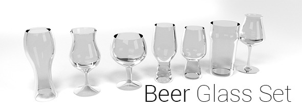 Beer Glass Pack - 3DOcean Item for Sale