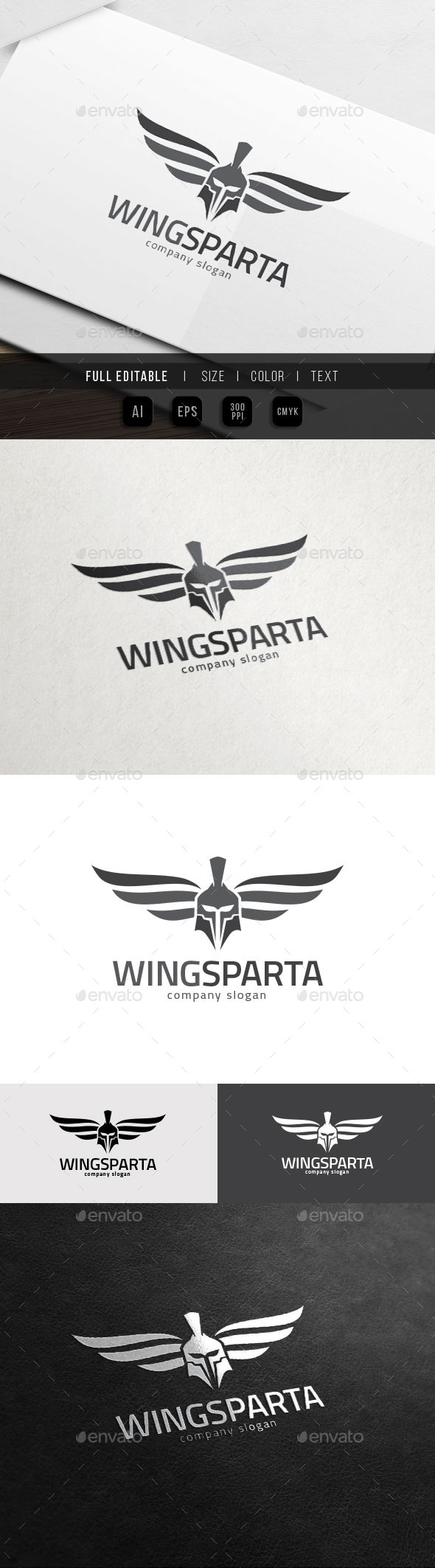 Sparta Wing - Helmet Armour - War Game