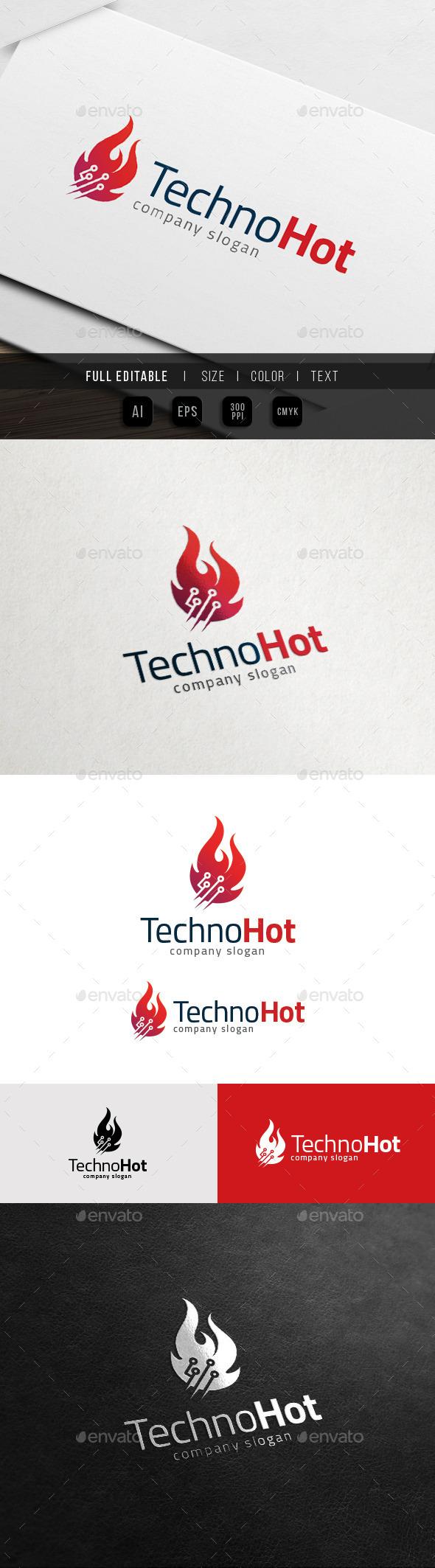 Fire Technology - Data Flame Logo