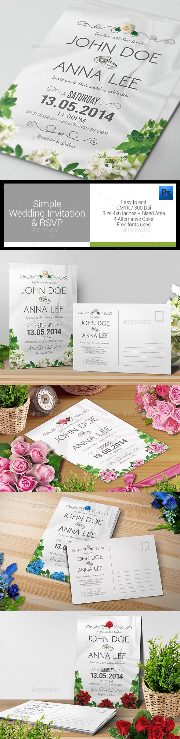 Simple Wedding Invitation & RSVP