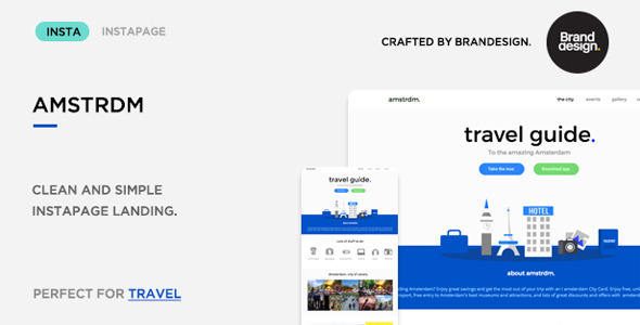 Amsterdam - Instapage Travel Landing Page