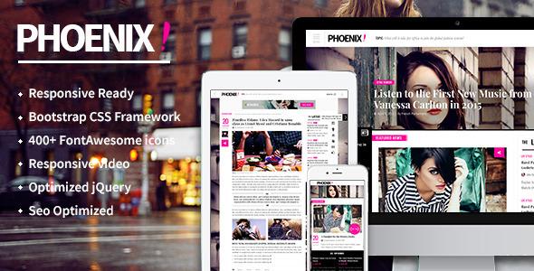 Phoenix HTML5 magazine template