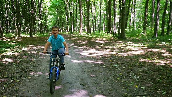 VideoHive Boy Biking On Trails 12320635