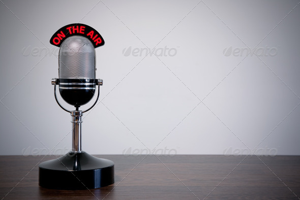 PhotoDune Retro Desk Microphone 1233322